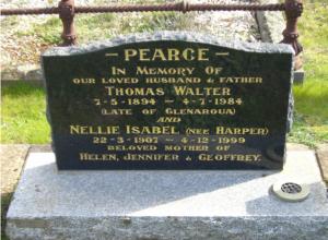 Nellie Isabel Harper Headstone - Kilmore
